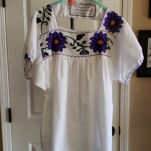 2 Mexican XL Blouses